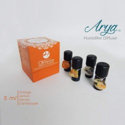 Arya HD - Pack Oli Organique - Set 4 oli essenziali da 5 ml 100% Made in Thailand (AROMI ORGANICI). (VIOLA)