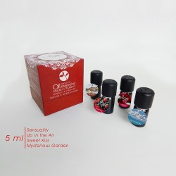 Arya HD - Pack Oli Organique - Set 4 oli essenziali da 5 ml 100% Made in Thailand (AROMI ORGANICI). (ROSSO